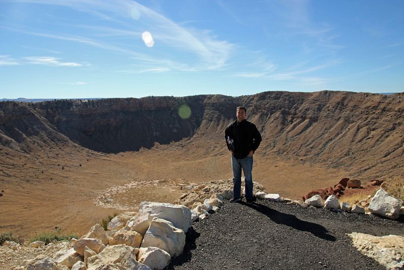 Meteor Crater -  Impact energy has been estimated at about 10 megatons.  In comparison, the Hiroshima bomb was only 15 kilotons.