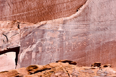 Indian wall drawing, Canyon De Canyon.