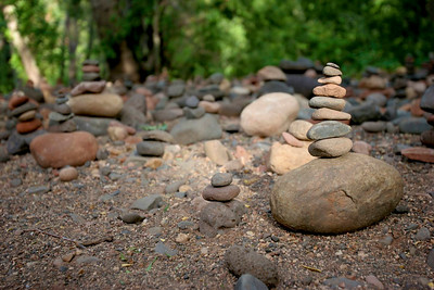 One of the MANY thousand rock piles we found along the river at Red Rock Crossing.