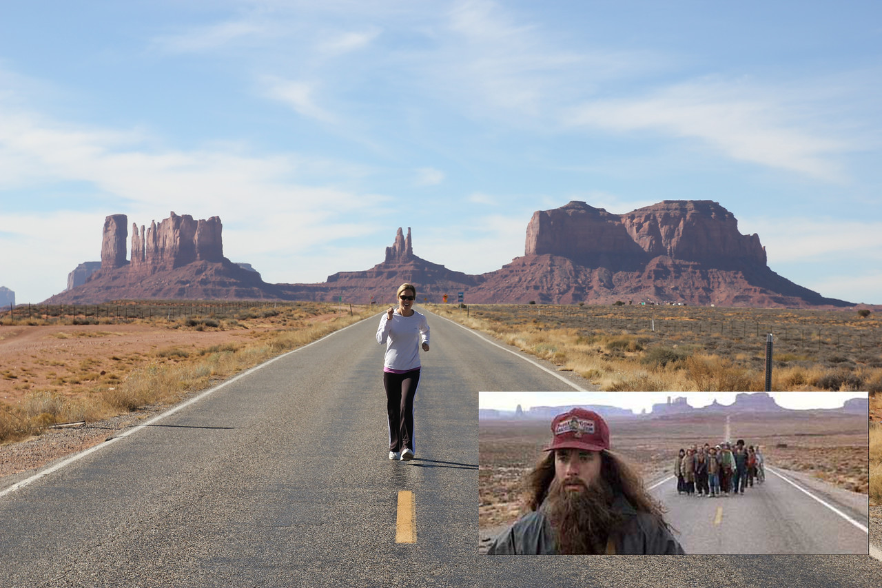 Monument Valley - And Forest Gump