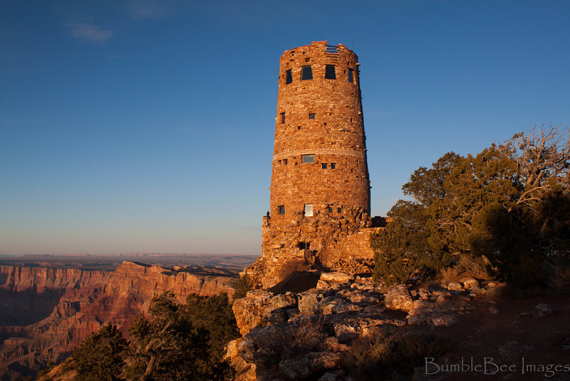 The Watchtower off Desert View Drive - South Rim at The Grand Canyon