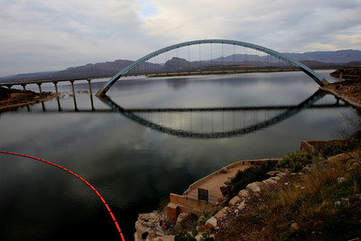 The Roosevelt Lake Bridge