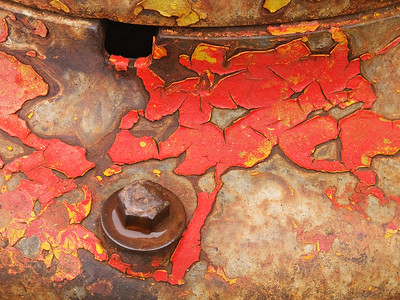 Arizona - weathered red paint and rust - Jerome