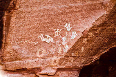 Indian drawing, Canyon De Chelly.