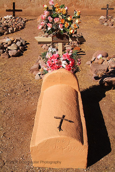 Little girls grave in the mission yard of Tumacacori in southern Arizona.
