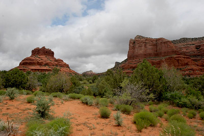 View of Bell Rock (on left).