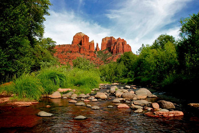 Cathedral Rock view from Red Rock Crossing, at Crescent Moon Ranch.  So peaceful!