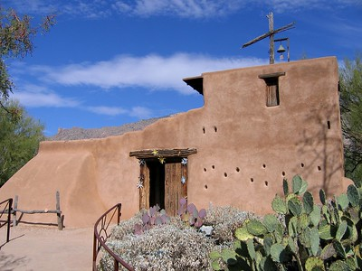 Adjacent to the main gallery, the Mission in the Sun was built by DeGrazia in honor of Padre Kino and dedicated to our Lady of Guadalupe, patron saint of Mexico.