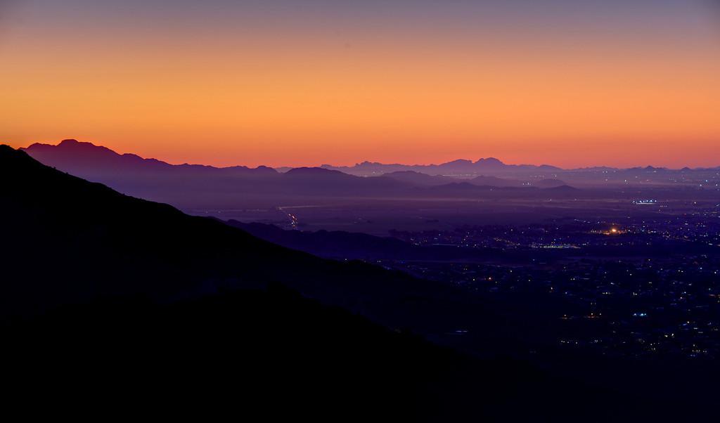 Sunset over Phoenix