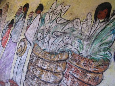 One of DeGrazia's painting inside the Mission.