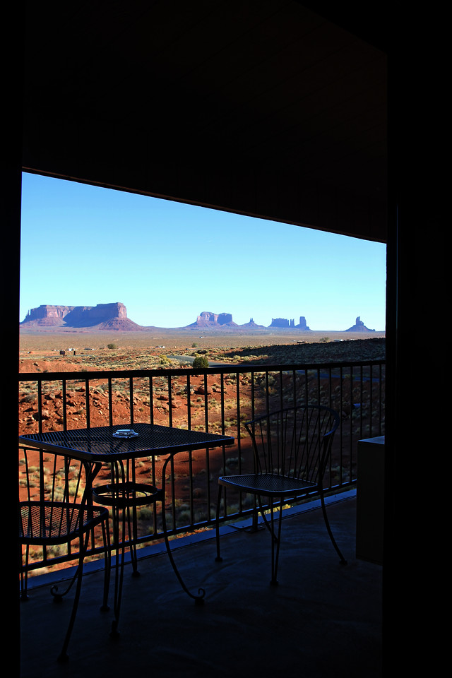 Monument Valley - View from our balcony