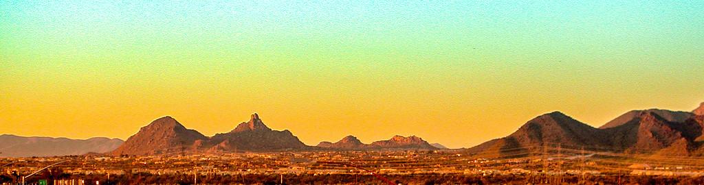 Scottsdale, AZ - looking North to Pinnacle Peak