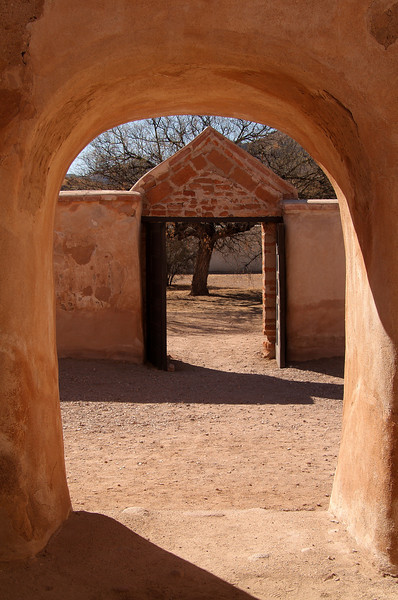 """Doors of the Southwest""  The mission at Tumacacori."