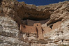 Montezuma Castle in Arizona where the Sinagua people lived until the 1400's