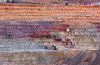 Massive surface strip mining operation in southern Arizona.