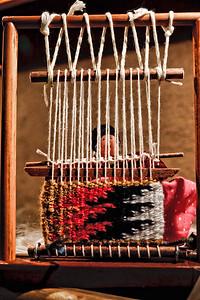 Navajo weaver loom.