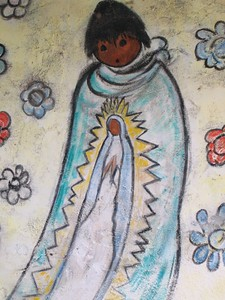 One of the paintings inside the Mission done by DeGrazia