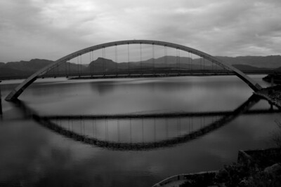The Roosevelt Lake Bridge over the Salt River, Arizona