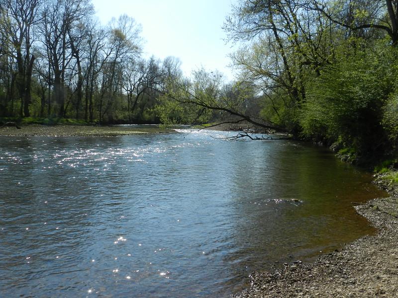 Crater of Diamonds State Park, Arkansas.. River Trail. Little Missouri River.