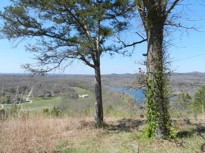 Overlook on Hwy. 160 in southern Missouri. Lake Taneycomo.