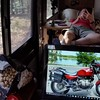 Crater of Diamonds State Park, Arkansas. Relaxing with Kindle and computer.