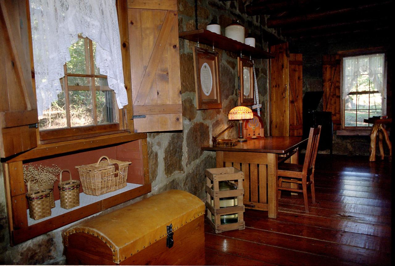 Interior, cabin at Tanyard Springs, near Petit Jean, Arkansas.