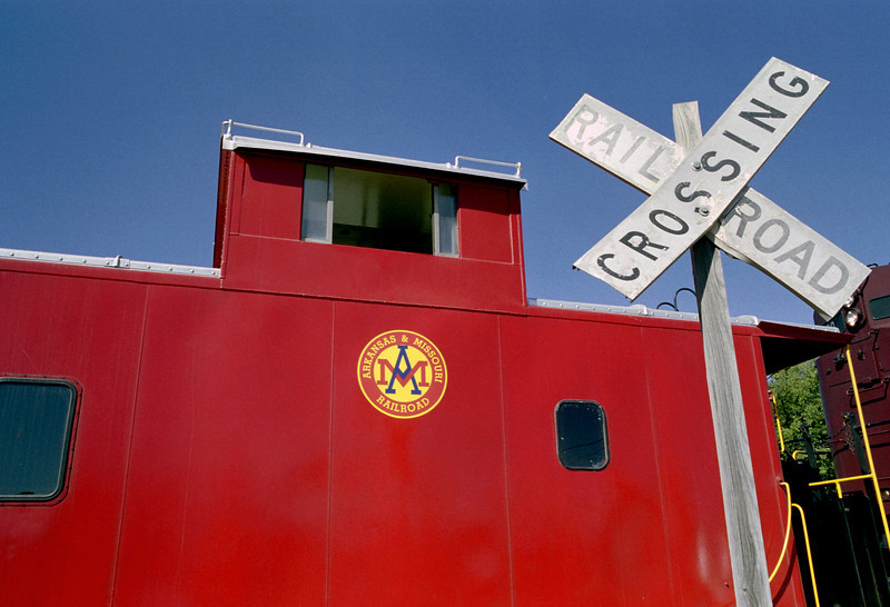 Caboose, Arkansas and Missouri tourist train, Fort Smith, Arkansas.