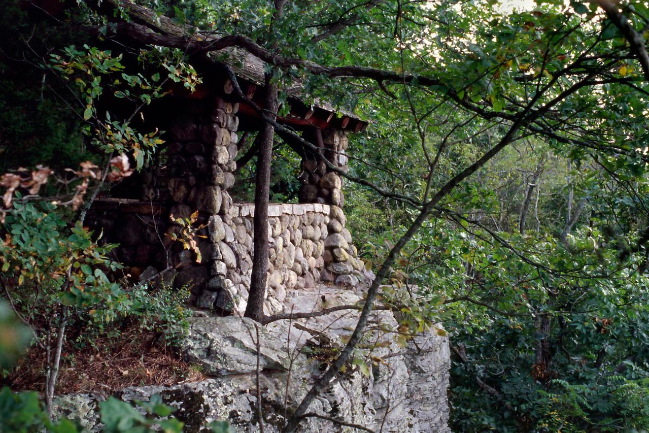 CCC pavillion, White Rock Mountain, Arkansas, October, 2007