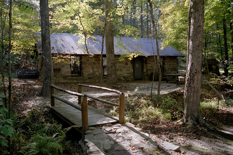 Cabin at Tanyard Springs, near Petit Jean, Arkansas.