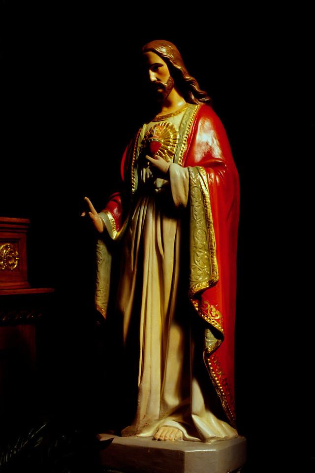 Jesus. St Mary's, Altus, Arkansas, October, 2007.