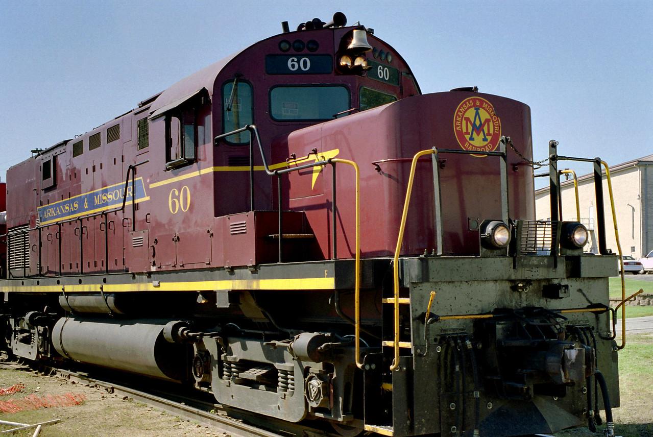 Locomotive, Arkansas and Missouri tourist train, Fort Smith, Arkansas.