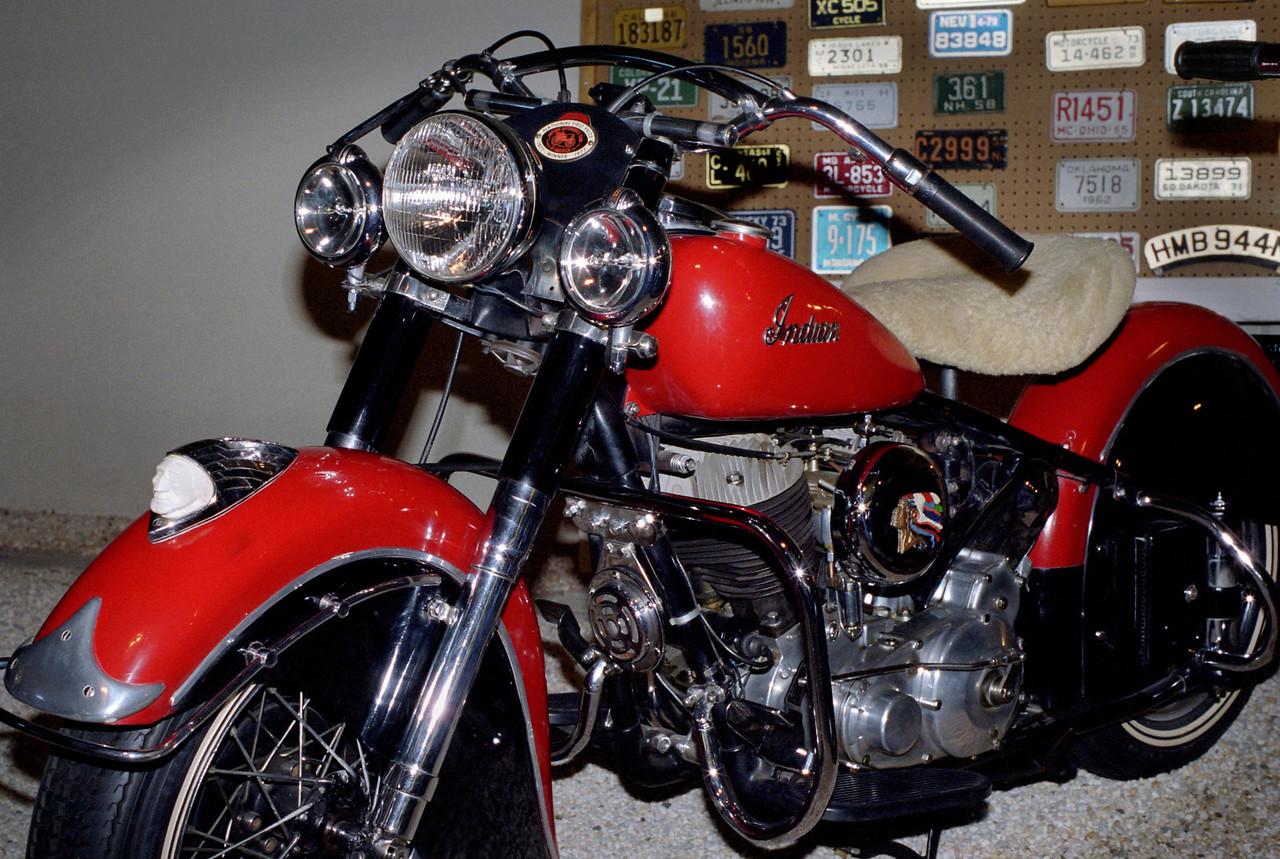 Indian motorcycle, Mid-America Old Time Auto Association near Petit Jean, Arkansas.