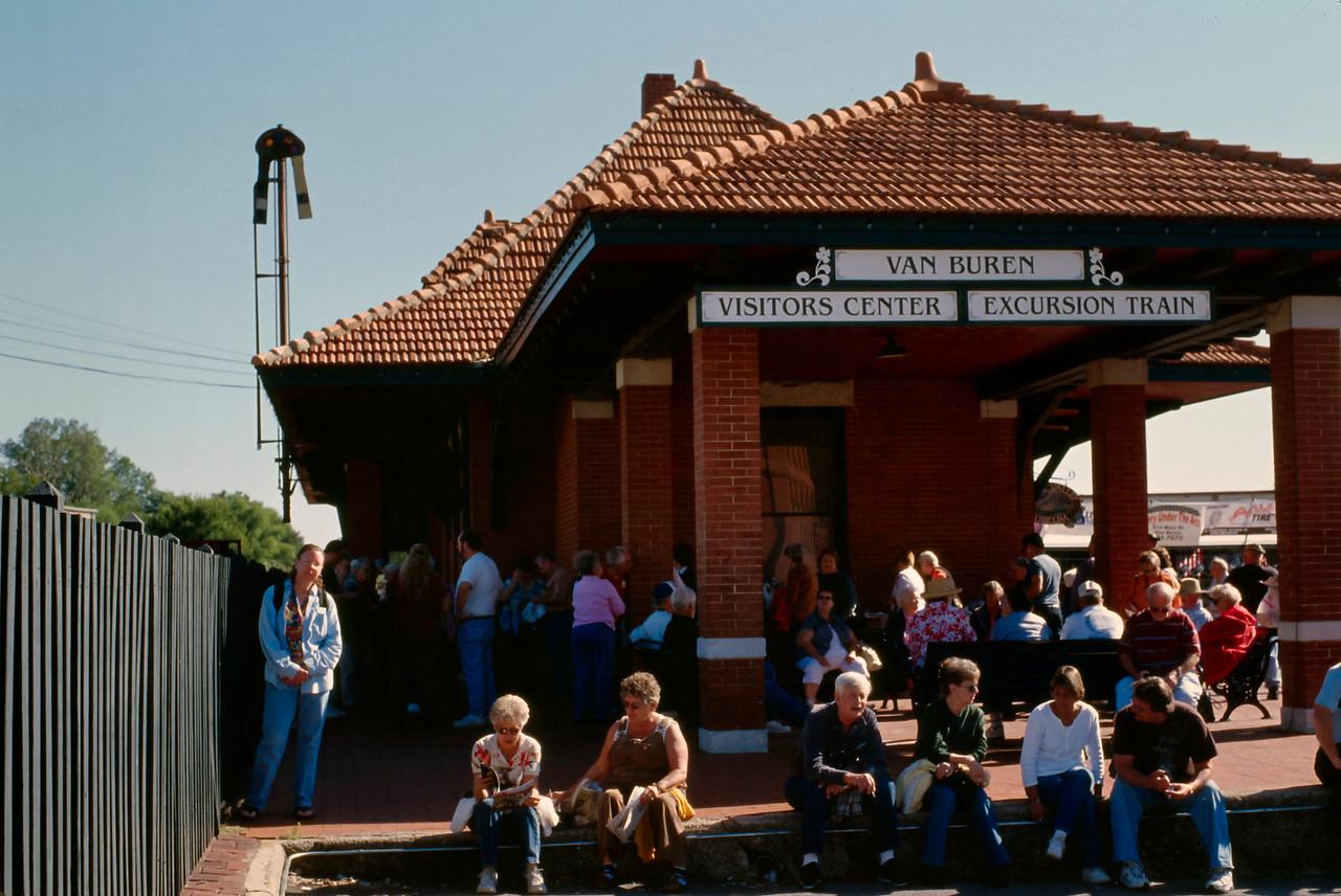 Train station, Arkansas and Missouri tourist train, Fort Smith, Arkansas.
