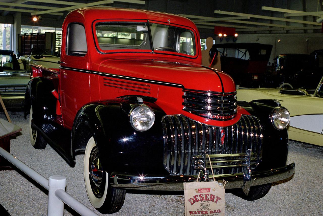 Chevy truck, Mid-America Old Time Auto Association near Petit Jean, Arkansas.