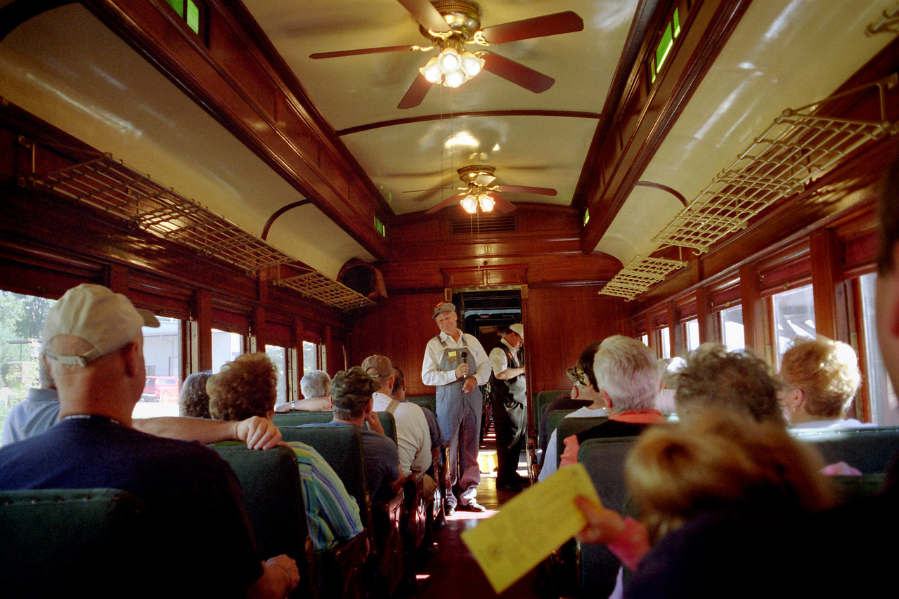 Conductor, Arkansas and Missouri tourist train, Fort Smith, Arkansas.