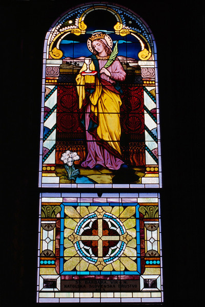 Stained glass, St Mary's, Altus, Arkansas, October, 2007