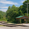 """Arkansas the Beautiful #14<br /> <br /> The Winslow train """"station."""" This is at the crossing of Route 74."""