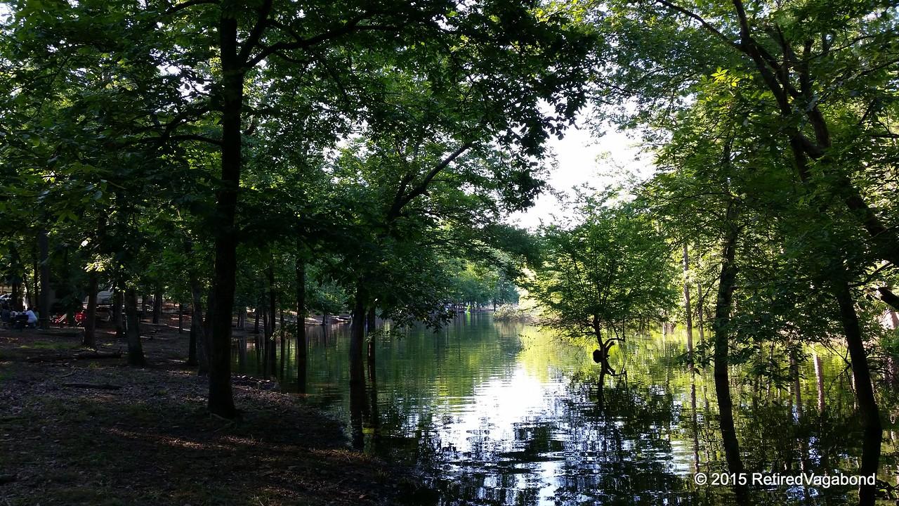 Camp view at Crystal Springs Arkansas