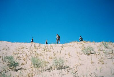 10/5/97 Hiking up the Kelso Dunes. East Mojave National Preserve, San Bernardino County, CA