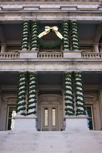 Executive Office Building Decorated for the Holidays