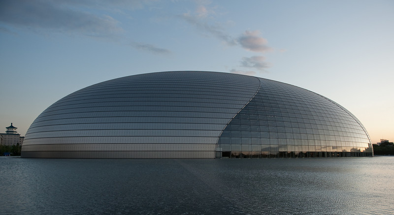 Beijing National Grand Theater in daylight