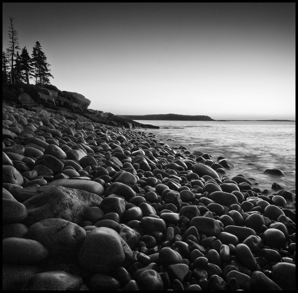 Boulder Beach at Dawn, A Black and White Interpretation