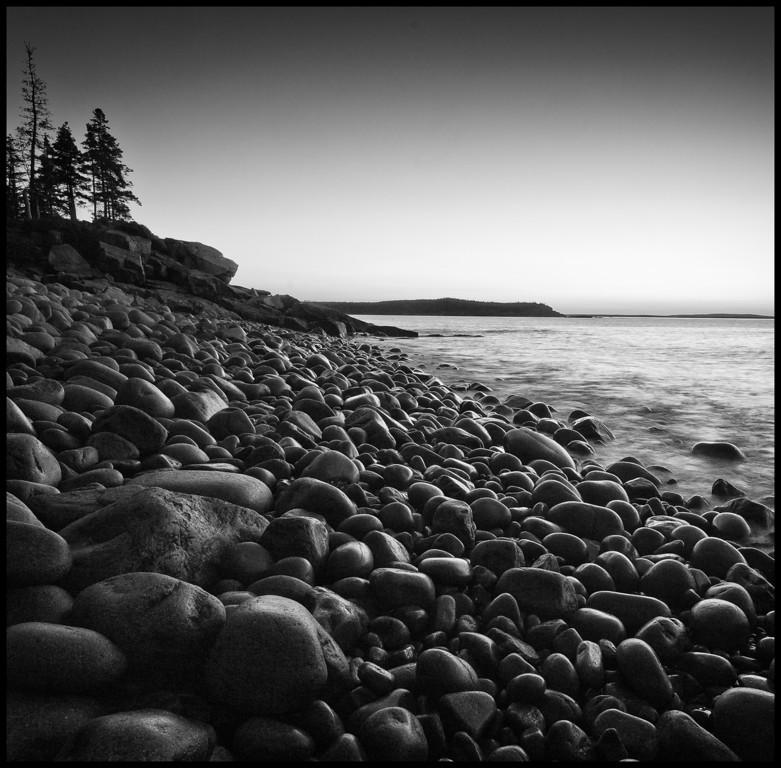 Boulder Beach at Dawn, A Black and White Interpretation
