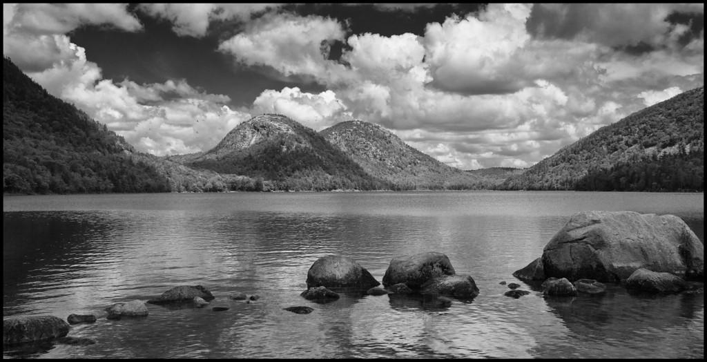 Jordan Pond in Black and White