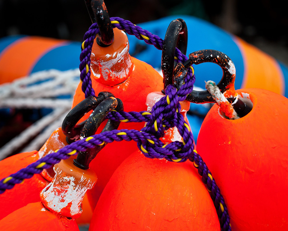 Lobsterman's buoys