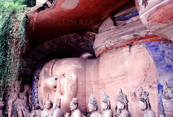 Giant Reclining Buddha of Dazu; Baoding Hill, China
