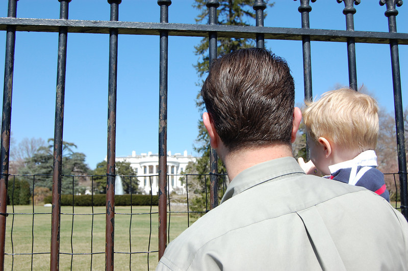 "Daniel was excited to see where the ""President President"" lives."