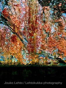 Hossan Värikallio, kivikautisia maalauksia - Värikallio at Hossa, stone age paintings