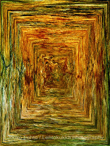 Hossan Värikallio, kivikautisia maalauksia - Värikallio at Hossa, stone age paintings; abstract version