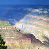 Rainbow after the storm in Grand Canyon north